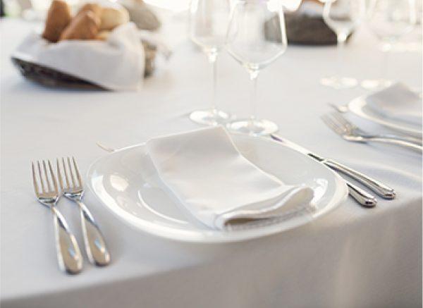 Napkin on a plate