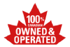 100% canadian owned & operated badge