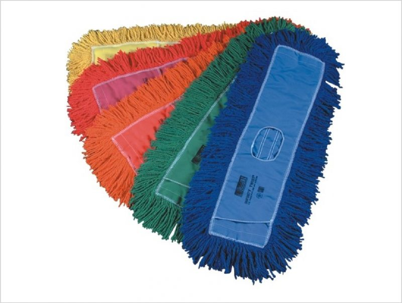 Treated dry mops