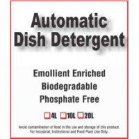 Automatic dish detergent, emollient enriched, biodegradable