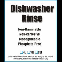 Dishwasher rinse, non-flammable, non-corrosive, biodegradable, phosphate free